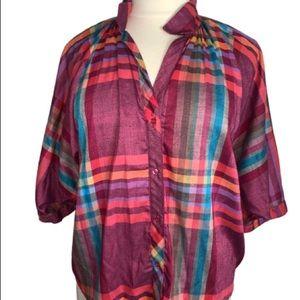 Vintage Plaid Shirt 16w